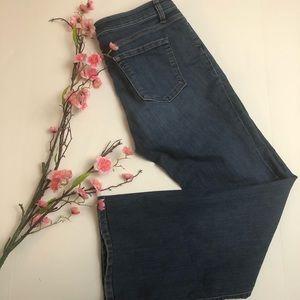 LOFT modern flare medium wash jeans size 14